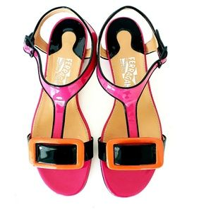NWT Salvatore Ferragamo Multicolored Sandals